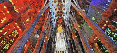 Painting - Sagrada Familia - 03 by Andrea Mazzocchetti