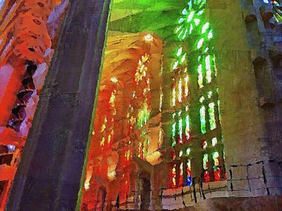 Painting - Sagrada Familia - 04 by Andrea Mazzocchetti