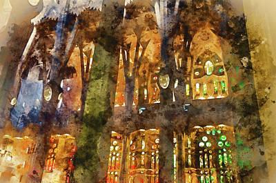 Painting - Sagrada Familia - 07 by Andrea Mazzocchetti
