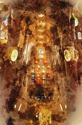 Painting - Sagrada Familia - 08 by Andrea Mazzocchetti