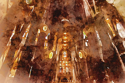 Painting - Sagrada Familia - 09 by Andrea Mazzocchetti