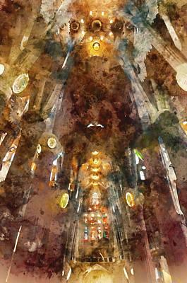 Painting - Sagrada Familia - 10 by Andrea Mazzocchetti