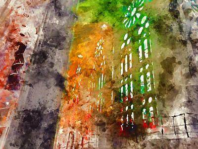 Painting - Sagrada Familia - 11 by Andrea Mazzocchetti