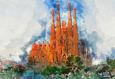 Painting - Sagrada Familia - 12 by Andrea Mazzocchetti