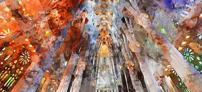 Painting - Sagrada Familia - 13 by Andrea Mazzocchetti