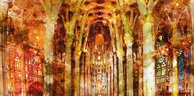 Painting - Sagrada Familia - 15 by Andrea Mazzocchetti