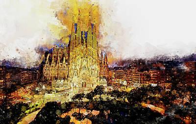 Painting - Sagrada Familia - 16 by Andrea Mazzocchetti