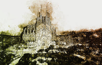 Painting - Sagrada Familia - 17 by Andrea Mazzocchetti