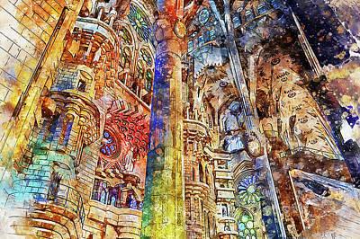 Painting - Sagrada Familia - 18 by Andrea Mazzocchetti