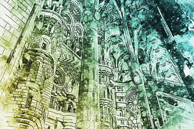 Painting - Sagrada Familia - 19 by Andrea Mazzocchetti
