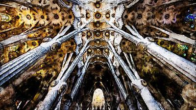 Painting - Sagrada Familia - 20 by Andrea Mazzocchetti