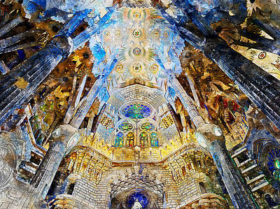 Painting - Sagrada Familia - 23 by Andrea Mazzocchetti