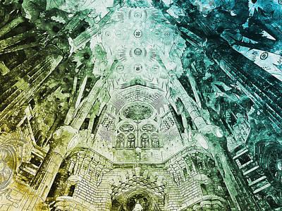 Painting - Sagrada Familia - 24 by Andrea Mazzocchetti