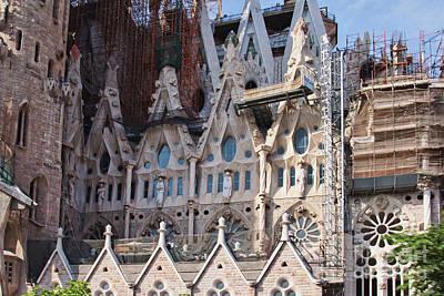 Photograph - Sagrada Familia Basilica Detail by Tatiana Travelways