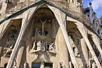 Photograph - Sagrada Familia Detail by Tatiana Travelways