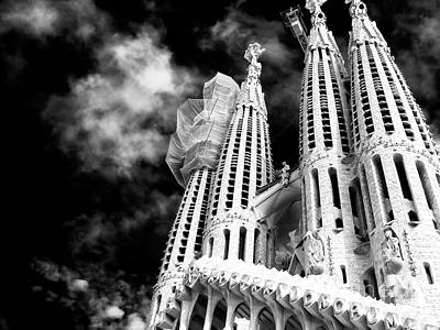 Photograph - Sagrada Familia Towers Barcelona by John Rizzuto