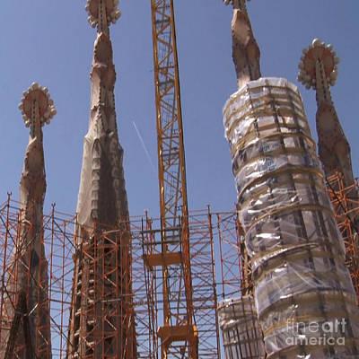 Photograph - Sagrada Temple Barcelona  Under Construction Since 1886 Artwork By Navinjosh At Fineartamerica.com  by Navin Joshi