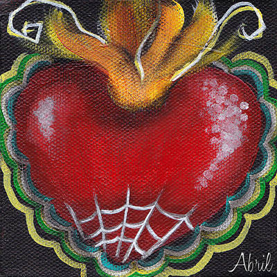 Painting - Sagrado Corazon 2 by  Abril Andrade Griffith