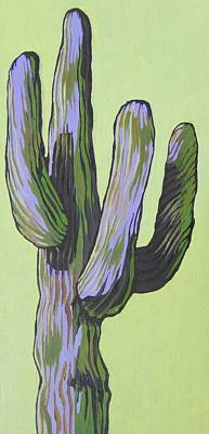 Saguaro 5 Art Print by Sandy Tracey