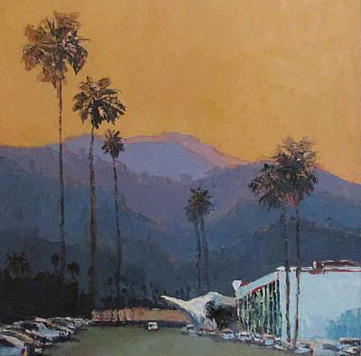 Painting - Saguaro Blues by Kathleen Strukoff