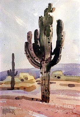 Saguaro Painting - Saguaro Cactus by Donald Maier