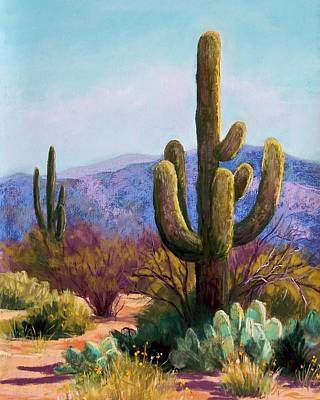 Saguaro Art Print by Candy Mayer