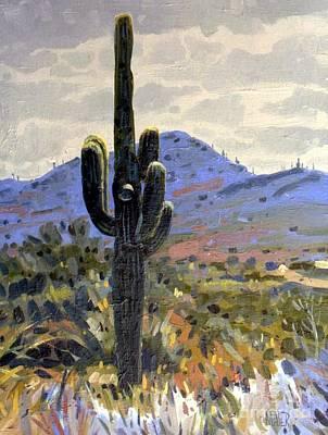 Saguaro Painting - Saguaro by Donald Maier