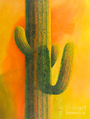 Painting - Saguaro In Summer by Sandra Neumann Wilderman