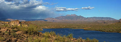 Photograph - Saguaro Lake Panorama by Sue Cullumber