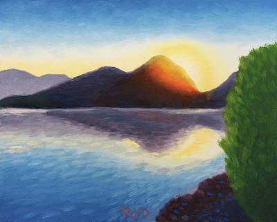 Painting - Saguaro Lake Sunrise by Robert J Diercksmeier