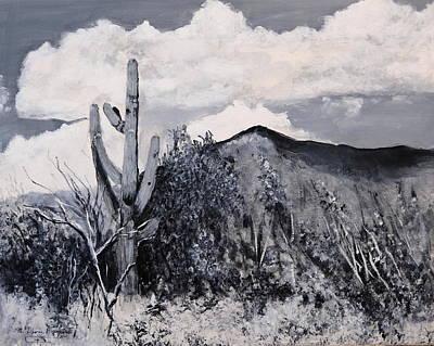 Painting - Saguaro Landscape by M Diane Bonaparte