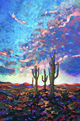 Wall Art - Painting - Saguaro National Park by Charles Wallis