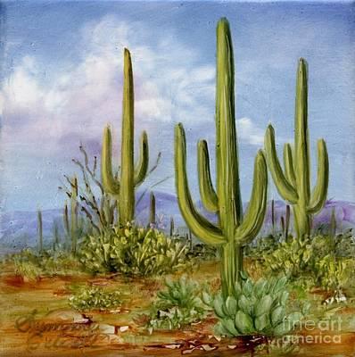 Saguaro Scene 1 Art Print by Summer Celeste