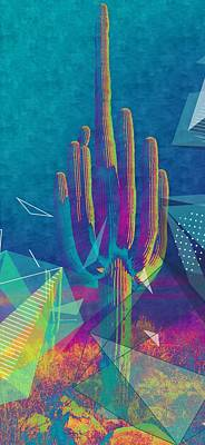 Mixed Media - Saguaro Shatter by Michelle Dallocchio