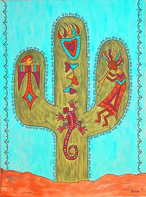 Painting - Saguaro Soiree by Susie WEBER