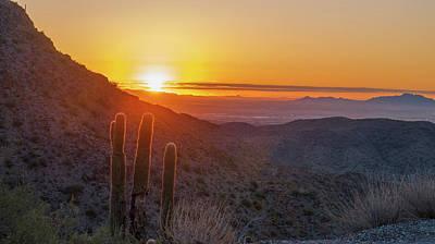 Photograph - Saguaro Sunrise by Kimo Fernandez