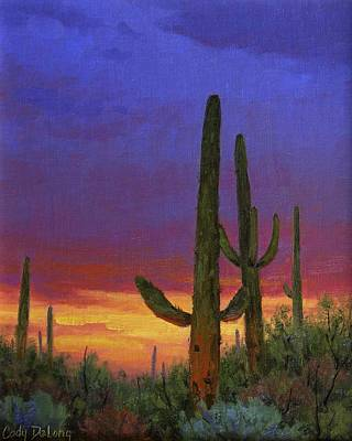 Saguaro Sunset Art Print by Cody DeLong