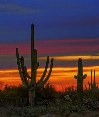 Photograph - Saguaro Sunset V31 by Mark Myhaver
