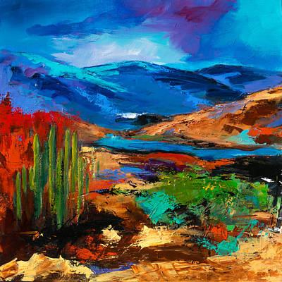Painting - Saguaros Land by Elise Palmigiani