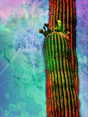 Digital Art - Saguaros by Sandra Selle Rodriguez
