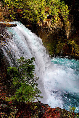 Photograph - Sahalie Falls And Pool by David Millenheft