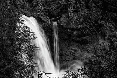 Photograph - Sahalie Falls No. 4 Bw by Belinda Greb