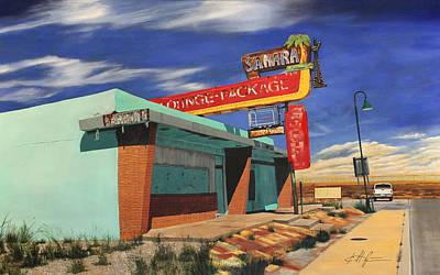 Sahara Painting - Sahara Lounge, New Mexico by Karl Melton