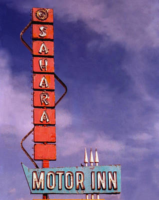 Sahara Motor Inn Art Print