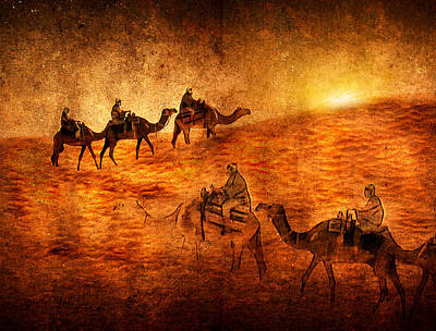 Camel Digital Art - Sahara by Svetlana Sewell