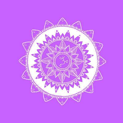 Meditative Drawing - Sahasrara by Sonia Kim