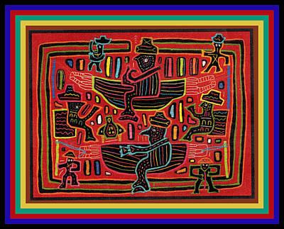 Digital Art - Sahilas And Argars In Their Hammocks by Vagabond Folk Art - Virginia Vivier
