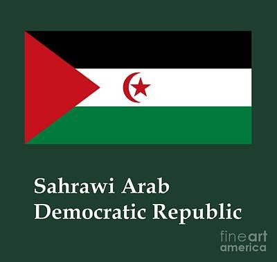 Sahrawi Arab Democratic Republic Flag And Name Original