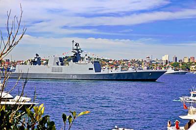 Thomas Kinkade Royalty Free Images - Sahyadri Dockes In Sydney Harbour Royalty-Free Image by Miroslava Jurcik