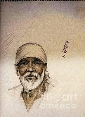 Shirdi Sai Baba Painting - Sai Baba by Aloke Lal